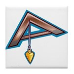 The Masonic Plumb, Square and Gage Tile Coaster