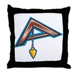 The Masonic Plumb, Square and Gage Throw Pillow