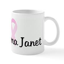 Grandma Janet pink ribbon Mug