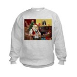 Santa's Mini Schnauzer Kids Sweatshirt
