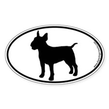 Bull Terrier SILHOUETTE Oval Decal