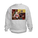 Santa's Schnauzer (9) Kids Sweatshirt