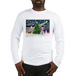 XmasMagic/Schnauzer (W) Long Sleeve T-Shirt