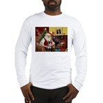 Santa's Schnauzer pup Long Sleeve T-Shirt