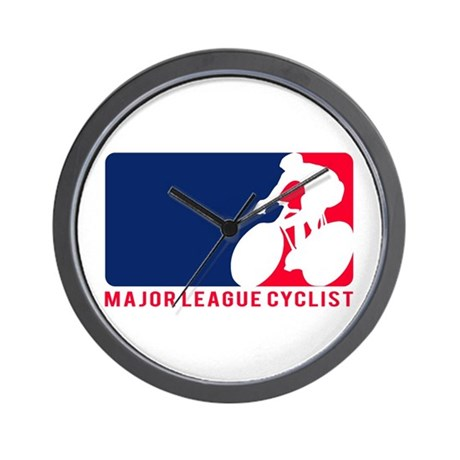 Major League Cyclist Wall Clock
