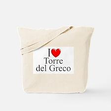 """I Love (Heart) Torre del Greco"" Tote Bag"
