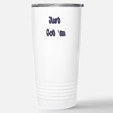 boob job just got 'em Travel Mug