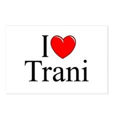 """""""I Love (Heart) Trani"""" Postcards (Package of 8)"""
