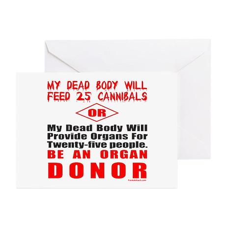 ORGAN DONOR Greeting Cards (Pk of 10)