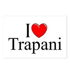 """""""I Love (Heart) Trapani"""" Postcards (Package of 8)"""