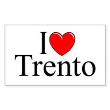 """I Love (Heart) Trento"" Rectangle Decal"