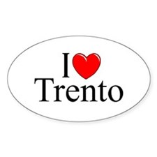 """I Love (Heart) Trento"" Oval Decal"