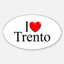 """I Love (Heart) Trento"" Oval Decal"