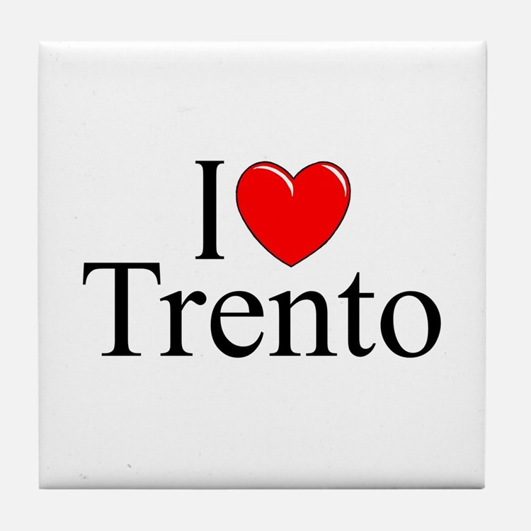"""I Love (Heart) Trento"" Tile Coaster"