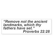 Bible Quote Bumper Car Sticker