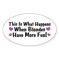 Pregnant Blonde Oval Decal