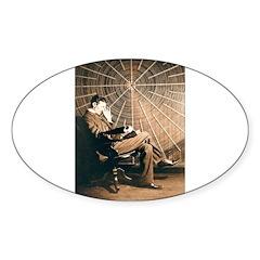 Tesla-3 Oval Sticker (10 pk)