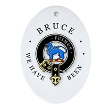 Clan Bruce Oval Ornament