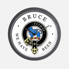 Clan Bruce Wall Clock