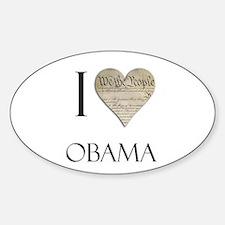 I Heart Obama Oval Decal