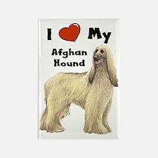 I Love My Afghan Hound Rectangle Magnet