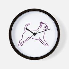 Grape Chihuahua Wall Clock