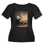 Tesla-3 Women's Plus Size Scoop Neck Dark T-Shirt