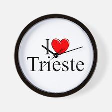 """I Love (Heart) Trieste"" Wall Clock"