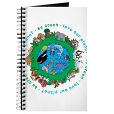 Be Green Love our planet Journal