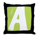 Stamped Letter A Throw Pillow