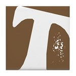 Stamped Letter T Tile Drink Coaster