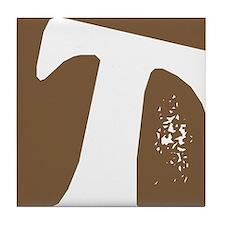 Stamped Letter T Tile Drink Coaster