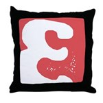Stamped Letter E Throw Pillow