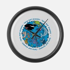 LOVE our Oceans Large Wall Clock