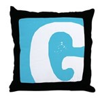 Stamped Letter G Throw Pillow