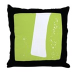 Stamped Letter I Throw Pillow