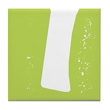 Stamped Letter I Tile Drink Coaster