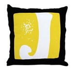 Stamped Letter J Throw Pillow