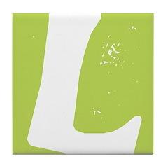 Stamped Letter L Tile Drink Coaster