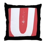 Stamped Letter U Throw Pillow