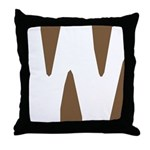 Stamped Letter W Throw Pillow