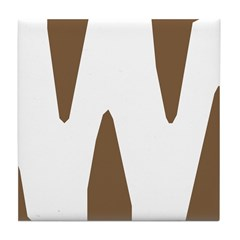 Stamped Letter W Tile Drink Coaster