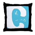 Stamped Letter C Throw Pillow