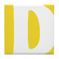 Stamped Letter D Tile Drink Coaster