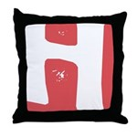 Stamped Letter H Throw Pillow
