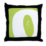 Stamped Letter O Throw Pillow
