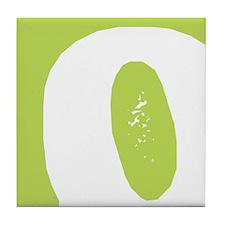 Stamped Letter O Tile Drink Coaster