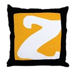 Stamped Letter Z Throw Pillow