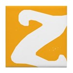 Stamped Letter Z Tile Drink Coaster