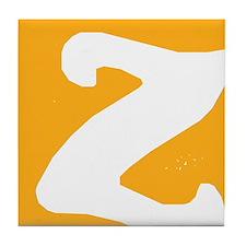 Stamped Letter Z Tile Drink Coaster